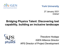 Bridging Physics Talent: Discovering lost capability, building an inclusive landscape